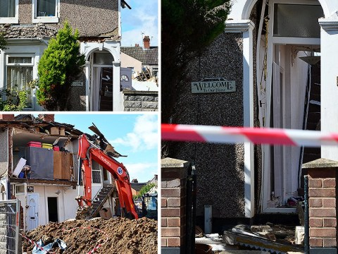 Family's horror after house collapses because of building work next door