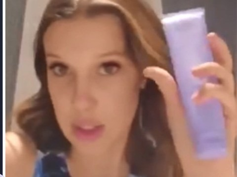 Fans think Millie Bobby Brown's skincare tutorial is fake as her make-up stays intact throughout