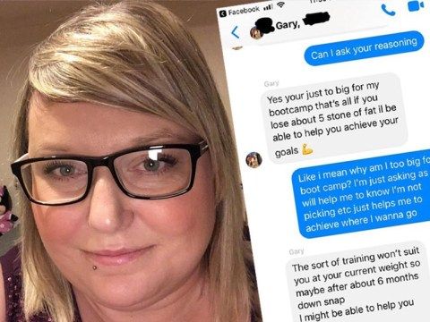 Personal trainer tells 25-stone woman she's 'way too heavy' for gym class