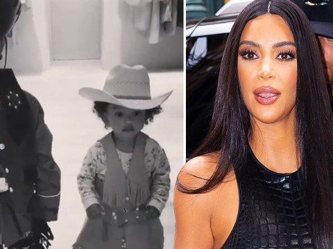 Kim Kardashian's children Saint and Chicago dress up as cowboy and girl and it's too cute