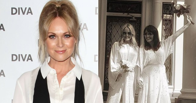 Who is Michelle Hardwick married to and how long has she played Vanessa Woodfield in Emmerdale?