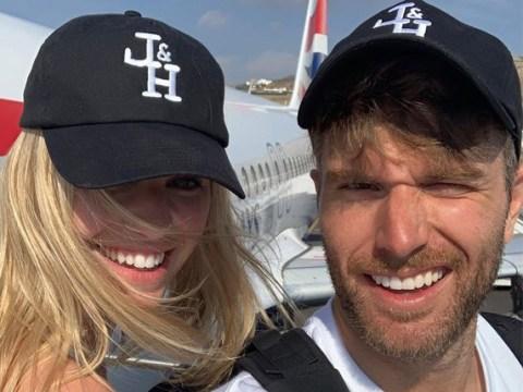 Joel Dommett's wife Hannah pokes fun at his Skype sex act leak as she shares cute wedding video