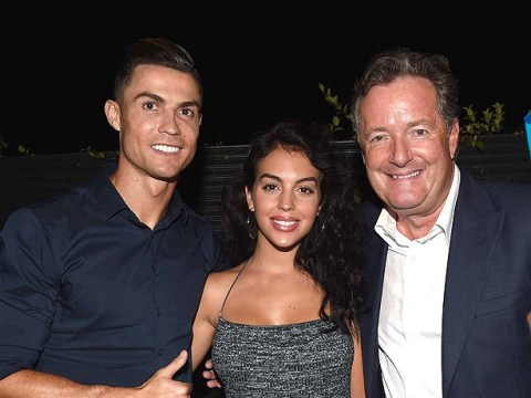 Cristiano Ronaldo and girlfriend Georgina Rodriguez party with Piers Morgan at CR7 fragrance launch
