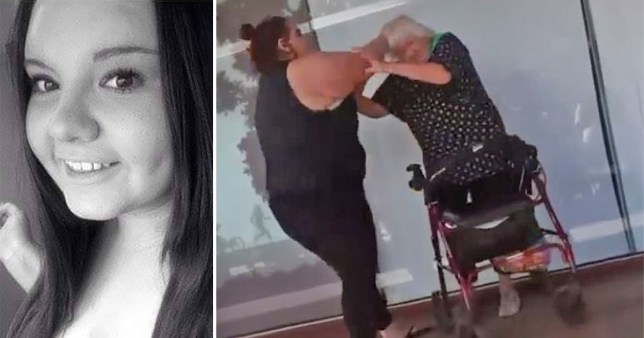 Woman begs not to be named: Cori Glencross was seen beating the elderly woman
