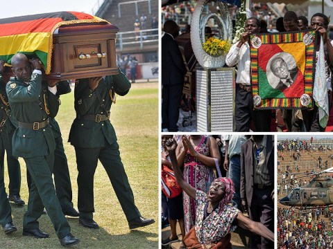 Stampede at Robert Mugabe's state funeral leaves several injured