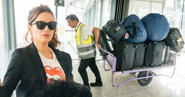 Kate Beckinsale uses van to deliver 17 suitcases to Heathrow as she lives the first class dream