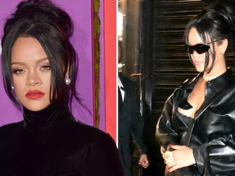 Rihanna looks sensational as she rocks all-black leather look after bizarre pregnancy rumours