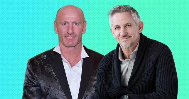 Gary Lineker and Gareth Thomas