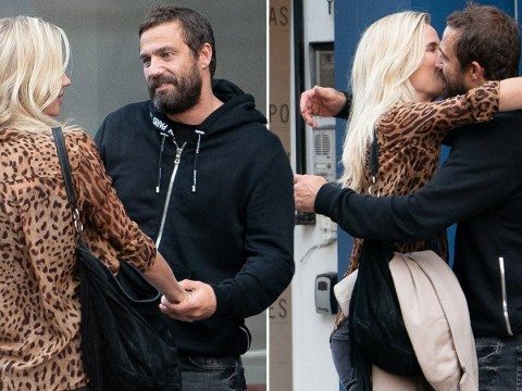 Hollyoaks' Jamie Lomas passionately kisses woman in the street a day after nasty brawl with Emmerdale's Asan N'Jie