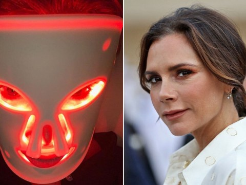 Victoria Beckham uses terrifying face mask ahead of beauty launch and London Fashion Week show