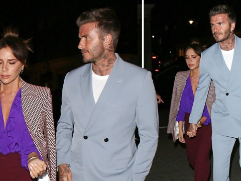 David and Victoria Beckham make time for a date night together after her successful LFW show