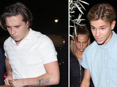 Brooklyn Beckham parties with Romeo following 'tense' run-in with ex Hana Cross