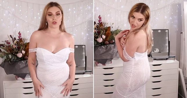 Bride buys £19 wedding dress and realises the see-through material is showing her bits