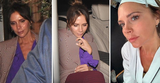 Victoria Beckham looked glowing the morning after going out to celebrate her LFW show