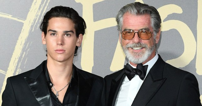 Pierce Brosnan is a proud father as he supports model son Paris at Fashion For Relief