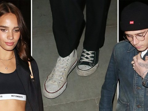 Hana Cross wears odd shoes as she risks bumping into ex Brooklyn Beckham at London Fashion Week party
