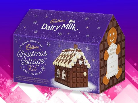 Gingerbread houses are out, but Cadbury Chocolate Cottage kits are in