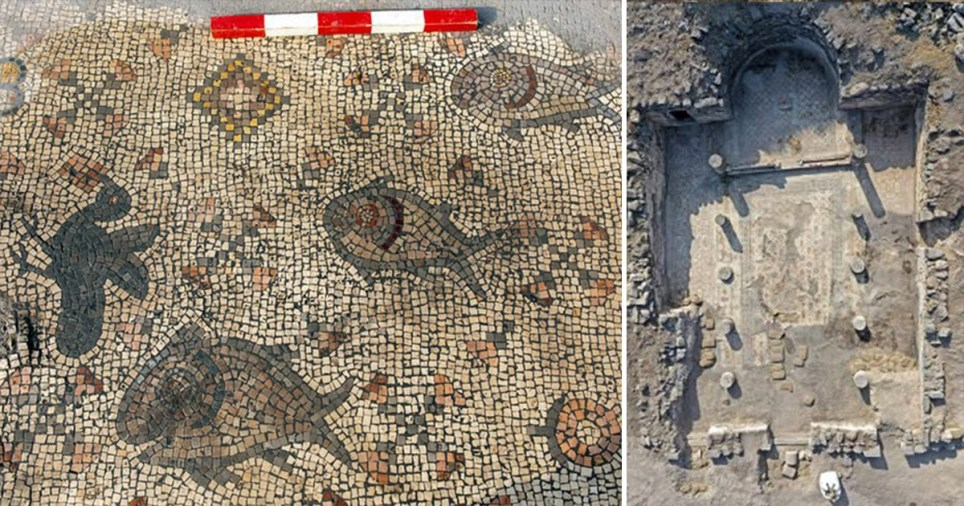 Ancient mosaic showing Jesus feeding the 5,000 is found in church ruins