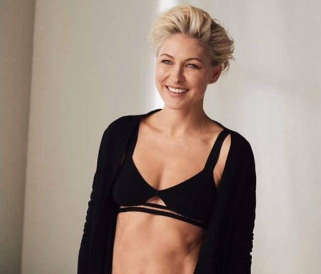 Emma Willis is having way too good a time in her pants as she owns lingerie shoot