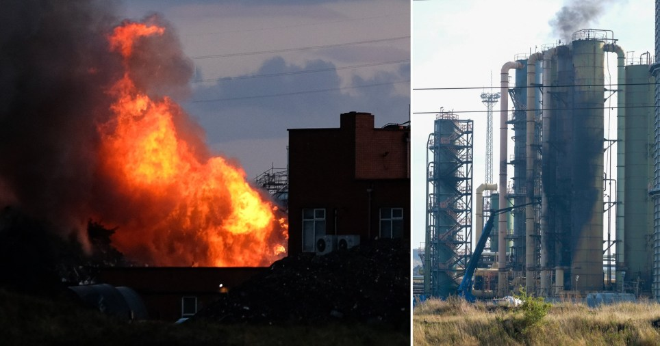 Fire at Redcar steelworks