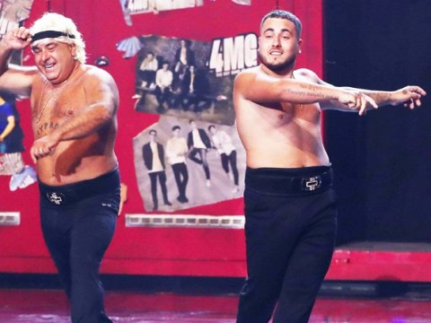 Britain's Got Talent's Simon Cowell gives Stavros Flatley his golden buzzer