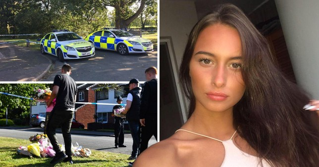 Keeley Bunker and police investigating scene of death in Tamworth, Staffordshire