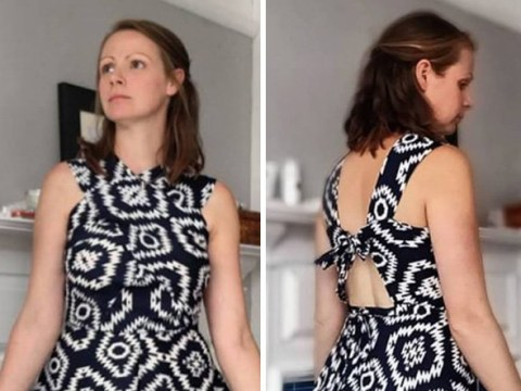 Mum transforms old shower curtains and duvet covers into new clothes for her whole family – saving over £800