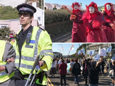Man, 91, among Extinction Rebellion protesters arrested for glueing themselves to Dover road