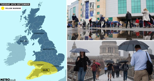 Weather: UK to be battered by heavy rain as autumn officially arrives