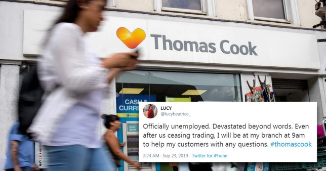 Hero Thomas Cook staff turn up to work to help people stuck abroad