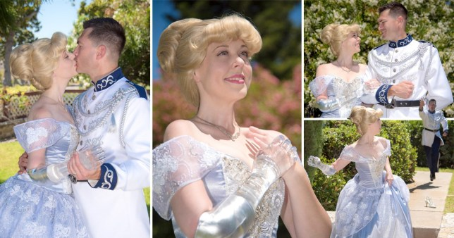 Mandy Pursely, who is an amputee, wore a glass arm and dressed as Cinderella