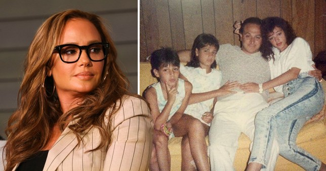 Leah Remini and a family photo, showing her father