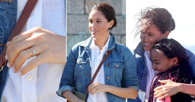 Meghan Markle, without engagement ring, in South Africa