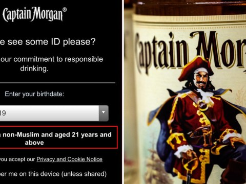 Captain Morgan website asks visitors to confirm they are 'non-Muslim'
