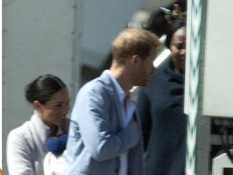 Rare glimpse of Harry and Meghan's nanny during royal tour of South Africa