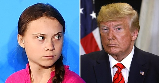 Caption: Greta Thunberg changes Twitter bio to hit back at Donald Trump