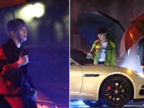 MONSTA X shoot intense rain scenes in California for mystery new music video