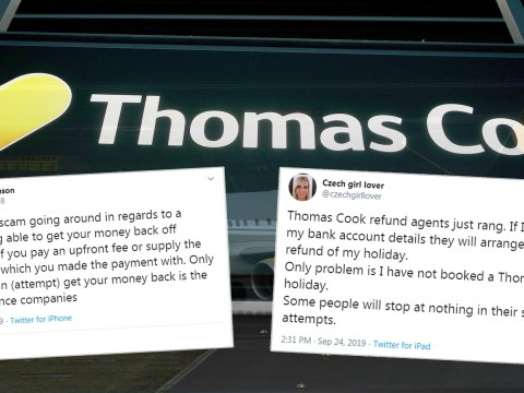 Thomas Cook scammers have been stealing passengers' bank details