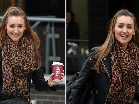 Strictly Come Dancing star Catherine Tyldesley has her priorities in order as she grabs a takeaway before rehearsals