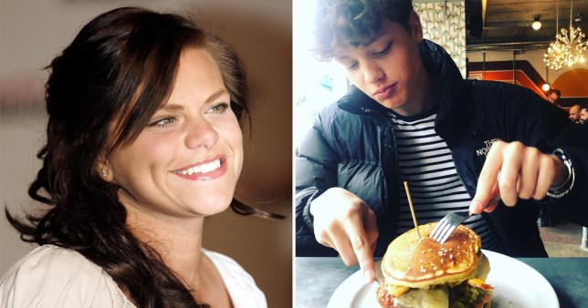 Jade Goody and son Bobby Brazier
