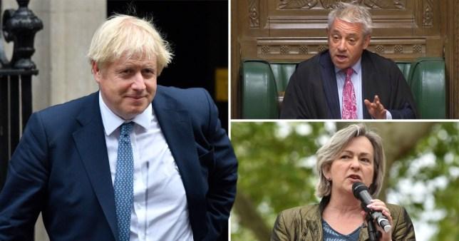 Compilation featuring Boris Johnson, John Bercow and Liz Saville-Roberts
