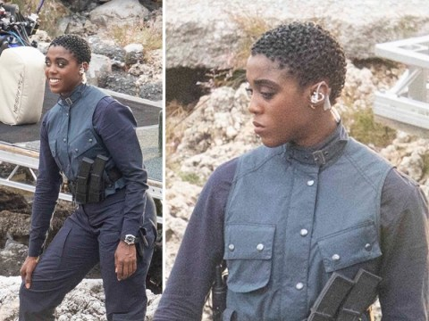 James Bond's Lashana Lynch means business as she's seen on No Time To Die set for first time after 007 replacement claims