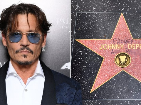Johnny Depp's Walk Of Fame star defaced amid Amber Heard legal row