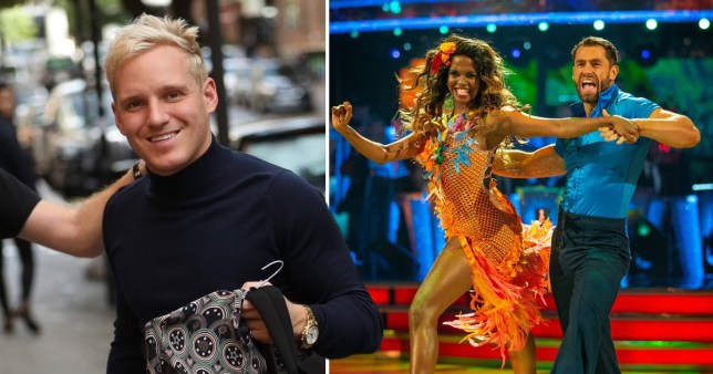 Jamie Laing, Oti Mabuse and Kelvin Fletcher on Strictly Come Dancing