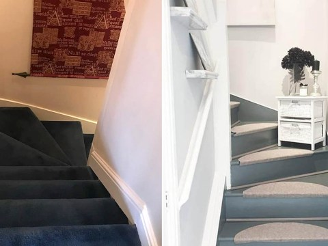 Woman shares how she transformed her carpeted staircase with just £50 worth of products