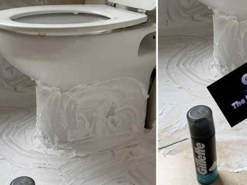 Mum uses shaving cream to stop toilet stinking of pee after sons use it