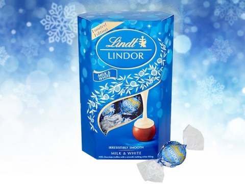 Lindt is launching a milk chocolate Lindor with white chocolate centre for Christmas