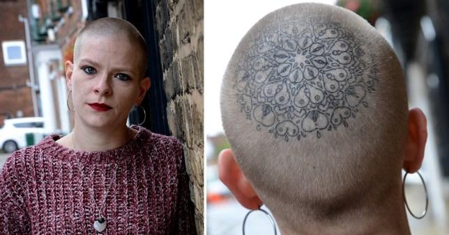 Super tatouage de la tête de Briony Sparrow