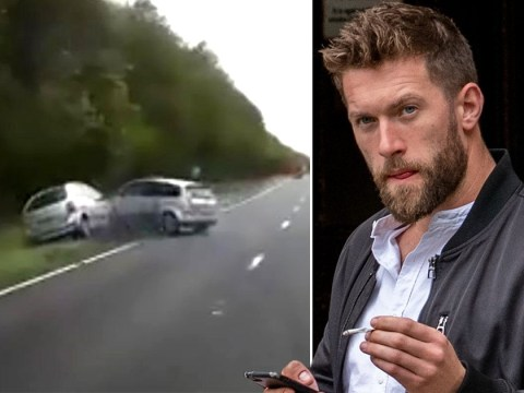 X Factor star crashes car after lobbing peanuts at driver in road rage row