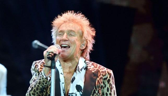 Sir Rod Stewart performs in Stockholm in 2019